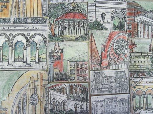 Sarah Horn Ceramics - multiple tiles